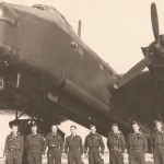 bill north and his crew with a stirling bomber picture phil harris